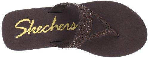 Skechers - Chanclas para mujer Marrón