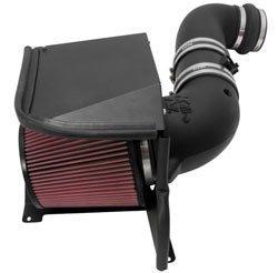 K&N Performance Air Intake Kit 57-3077 with Lifetime Red Oiled Filter for 2011-2014 Chevrolet Silverado 2500 HD/3500 HD, GMC Sierra 6.6L Duramax V8 Diesel by K&N