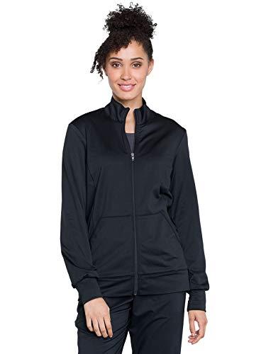 (Cherokee WW Revolution WW370 Unisex Zip Front Warm-Up Jacket Black XL)