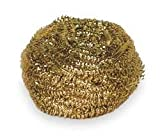 Tough Guy 2NTH8 Brass Scrubber, PK 6