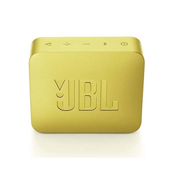 JBL Go 2 - Mini enceinte Bluetooth Portable - Étanche pour Piscine & Plage Ipx7 - Autonomie 5hrs - Qualité Audio JBL - Jaune 5