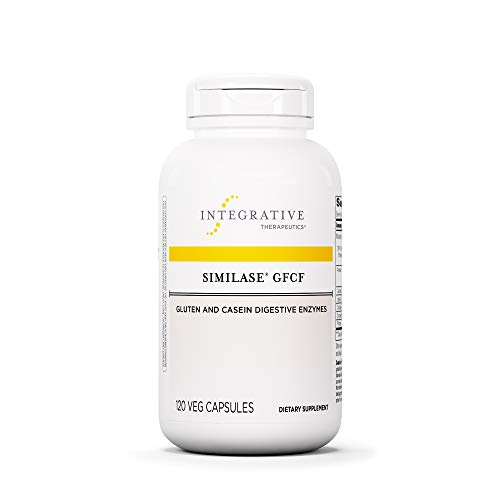 Integrative Therapeutics - Similase GFCF - Gluten Digestive Enzyme - Supports Breakdown of Gluten and/or Casein/Dairy* - Reduces Occasional Gas and Bloating* - Vegan and Gluten Free - 120 Capsules ()