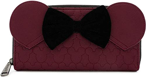 Loungefly-x-Minnie-Mouse-Quilted-Zip-Around-Wallet-with-Velvet-Bow