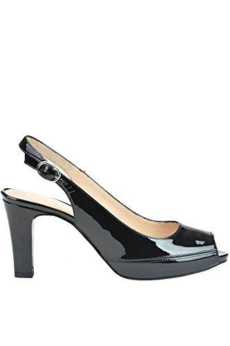 UNISA Femme MCGLCAT03055E Noir Cuir Vernis Sandales