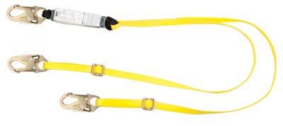 MSA Workman Twin-Leg Adjustable Shock-Absorbing Tie-Back Lanyard (Leg Workman Shock Twin)