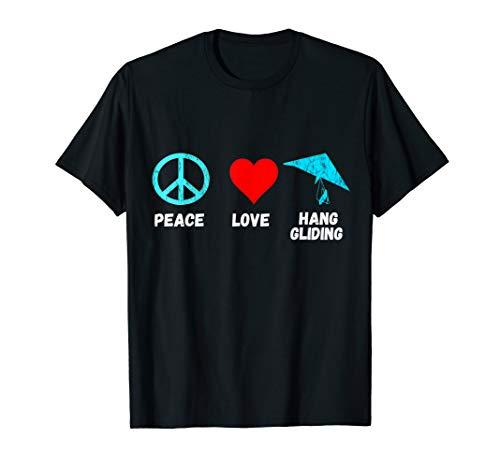 Hang Gliding Peace Love Glider Hangglider Air Sport T-Shirt (Hang Ten Peace Sign)