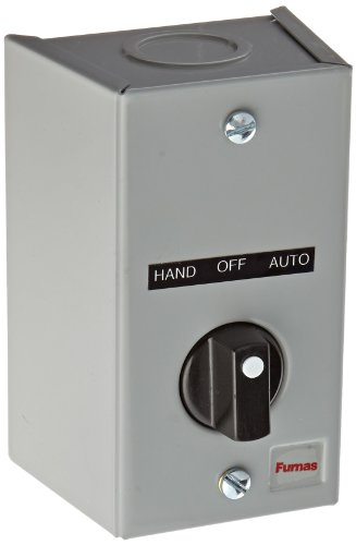 Gray Selector Series - Siemens 50AA3C3 Surface Mount Enclosure, 3 Position Selector Switch,HAND-OFF-AUTO Labeled, 2 NO Contact Block