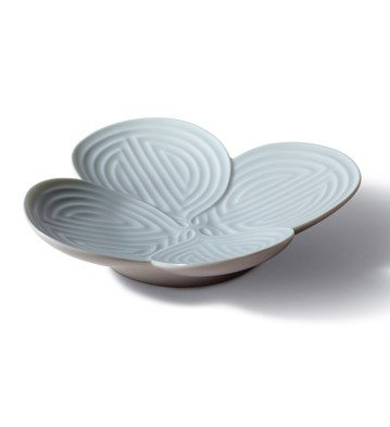 NATURO APPETIZER PLATE ( TURQUOISE ) Lladro Porcelain by Lladro Porcelain