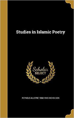 Book Studies in Islamic Poetry
