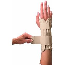Mueller Wrist Stabilizer, Small/Medium, Beige, 1-Count Package