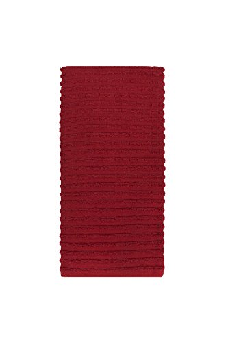 Ritz Royale Collection 100% Combed Terry Cotton, Highly Absorbent, Oversized, Kitchen Towel Set, 28'' x 18'', 2-Pack, Solid Paprika Red by Ritz (Image #5)