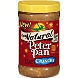 Peter Pan, 100% Natural, Crunchy Peanut Butter, 16.3oz Jar (Pack of 3)