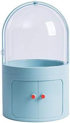 化粧品収納ボックス 蓋付き家庭用プッシュプル化粧品収納ボックス多層大容量透明ラックアクリル防水および防塵 QTKGG (Color : C)