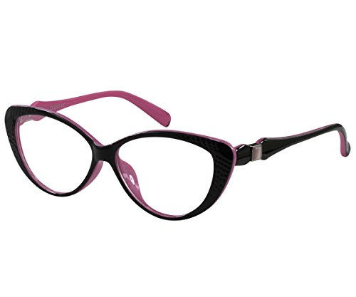 Ebe Women Reader Cheaters Full Frame Large Vision Ranger Pink Black - Spectacle Frames Lightest