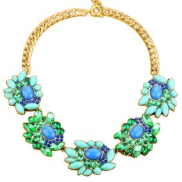 chunky-flower-choker-necklace-blue-and-green-crystals