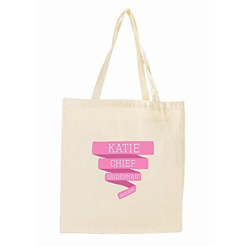 Pink banner borsa cotone regali, e, carte di compleanno, idea regalo, striscioni personalizzabile