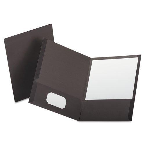 Oxford - Linen Finish Twin Pocket Folders, Letter, Gray, 25/Box 53405 (DMi BX