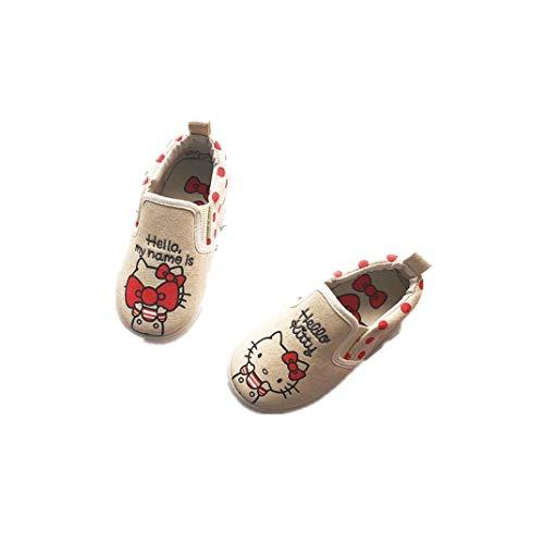 Kid Shoes Hello Kitty Canvas Loafer Easy-Walking Slip-on Cute Cartoon Sneaker