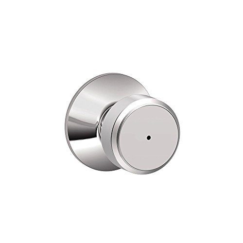 Chrome Knob Privacy (Schlage F40 BWE 625 Bowery Privacy Lock Knob, Bright Chrome)