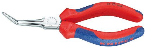 - Knipex 3125160 Angled Needle Nose Pliers with Comfort Grip, 6.25 Inch