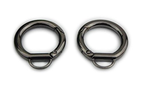 - Bobeey 5pcs 7/16'' Black Gun Jewelry Clasps,O Ring Purses Clasps,Purse O Ring Lobster clasp,purses hooks,Sturdy Snap Clasps BBC18 (E,Black Gun)