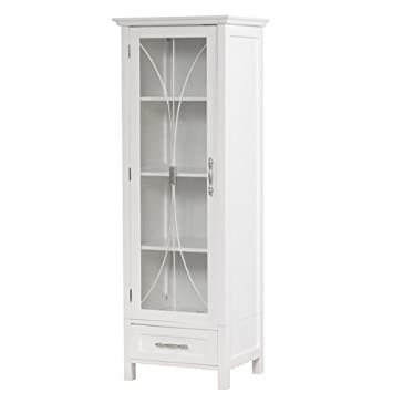 Mason Linen Tower with One Door and Three Open Shelves. Amazon com  Mason Linen Tower with One Door and Three Open Shelves