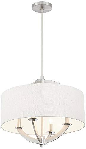 Possini Euro Saturna 21'' Wide Brushed Nickel Pendant Light - Possini Euro Design by Possini Euro Design (Image #4)