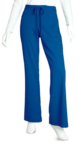 Grey's Anatomy Women's Junior-Fit Five-Pocket Drawstring Scrub Pant - Medium Tall - New Royal