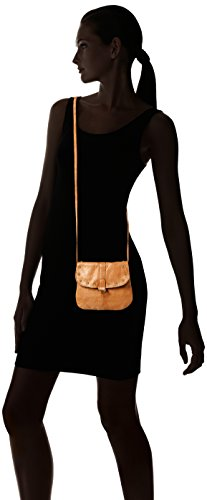 Cognac bandolera Body Pcnadeen PIECES Bolsos Cross Marrón Mujer Leather xt8xwXf