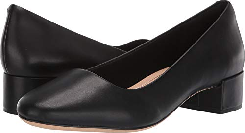 - CLARKS Women's Orabella Alice Pump, Black Leather, 75 M US
