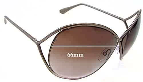 9c2a37069579 SFX Replacement Sunglass Lenses fits Tom Ford Lilliana TF131 66mm Wide