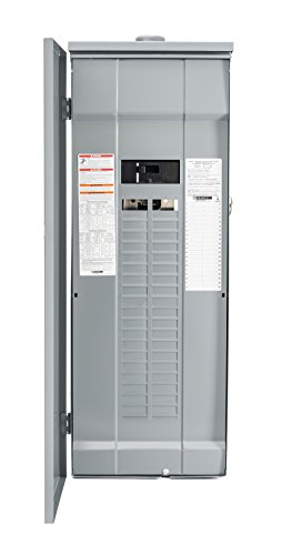 Center Plug - Square D by Schneider Electric HOM4080M200PRB Homeline 200 Amp 40-Space 80-Circuit Outdoor Main Breaker Load Center (Plug-on Neutral Ready),