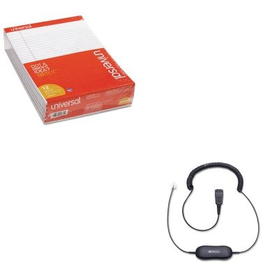 KITJBR8801199UNV20630 - Value Kit - Jabra Coiled Direct Connect Smart Cord for Headsets (JBR8801199) and Universal Perforated Edge Writing Pad (UNV20630)