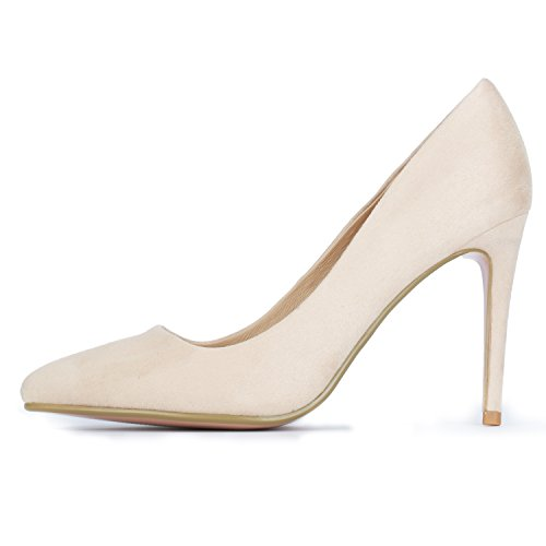 Toe Stiletto Heel Nude Women's IDIFU Classic Dress High Pointed Suede Pump IN4 wC4nqUxa