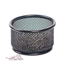 Brenton Studio(TM) Metro Mesh Paper Clip Holder, Black (Office Depot Metro Mesh)
