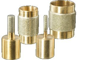 Stained Glass Grinder Head Bit 4 Sizes Diamond on Brass Core (Glass Grinder Bits compare prices)