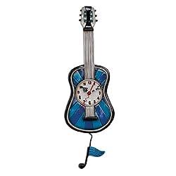 Allen Design Studios Blue Tunes Guitar Wall Clock