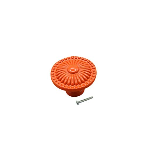 - Daisy Knob Pull Door Drawer Cabinet Kitchen Cupboard Dresser Handle-Orange