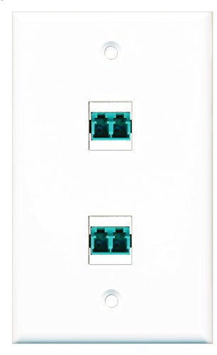 RiteAV - 2 Port LC Fiber 10GB Duplex Wall Plate - White