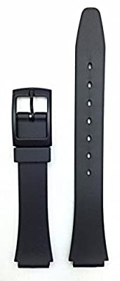 13mm Black Rubber Watch Band - Comfortable and Durable PVC Material Replacement Strap for Women by NewLife