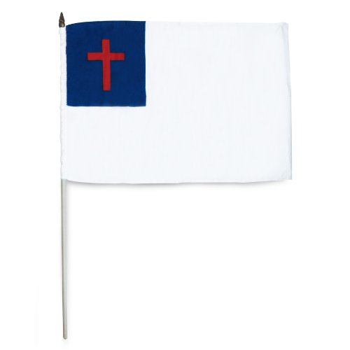 US Flag Store Christian Stick Flag, 12 by