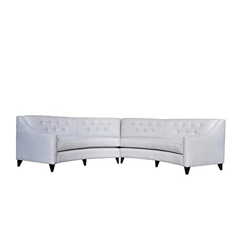 Curved Sectional Sofa (PoshBin Charlotte Curved White Sectional Sofa)