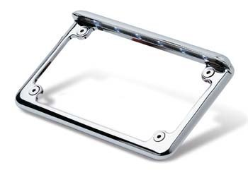 Complete Motorcycle License Plate Frame White LED 6' (Black) Radiantz