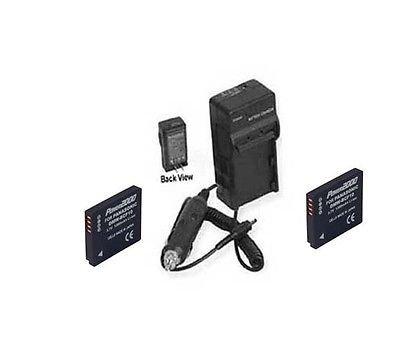 2電池+充電器for Panasonic dmc-ft1d、Panasonic dmcft1d、Panasonic dmcft1g、Panasonic dmcft1gc、Panasonic dmc-ft1gc   B01DLNLLVE