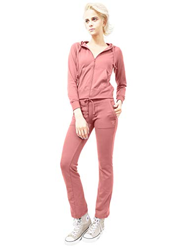 - J.LOVNY Womens Comfy French Terry Hoodie and Sweatpants Traing Tracksuit Set