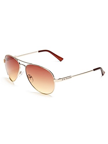 G by GUESS Women's Metal Mirrored Aviator - Glasses Girls Guess