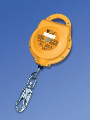 Miller 20' Titan Self-Retracting Lifeline With Glass-Filled Polypropylene Housing And 3/16'' Galvanized Wire by Honeywell