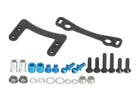 3Racing #3R/M05-25/WO Graphite Steering Plate for Tamiya M05 - Graphite Steering Plate