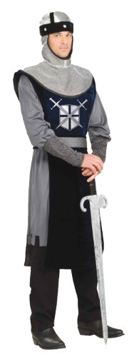 Forum Knight Of The Round Table Costume, Silver/Black,