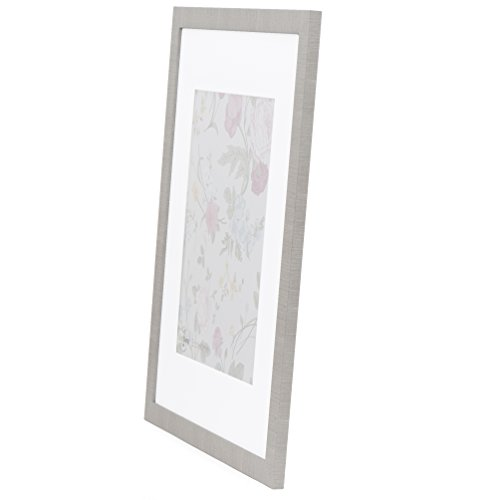 16x20 Picture Frame Modern Gray - Matted for 11x14, Frames by EcoHome